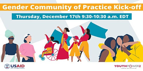 YP2LE Gender  Community of Practice Kick-Off Tickets