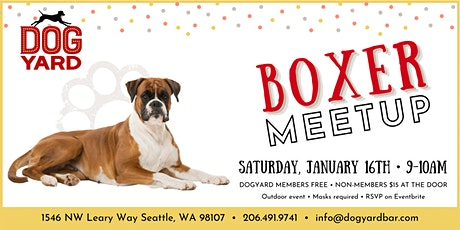 Boxer Meetup at the Dog Yard tickets