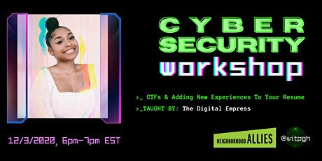 Cybersecurity: CTF'S and Adding New Experience to your Resume tickets