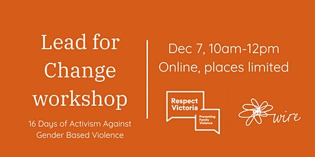 Lead for Change workshop: The power of grassroots conversations tickets
