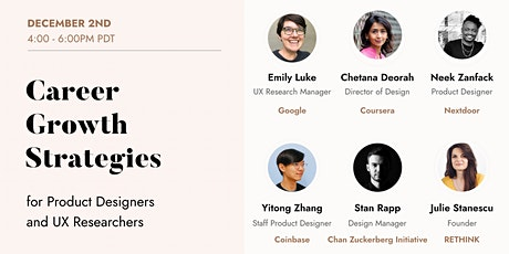 Career Growth Strategies for Product Designers and UX Researchers tickets