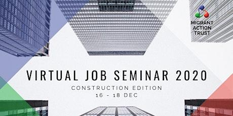 Virtual Job Seminar 2020, Construction Edition tickets