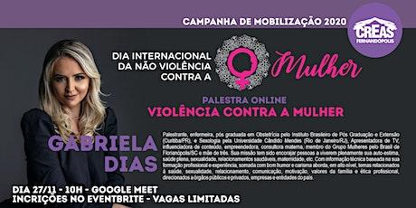 """Palestra Online """"Violência Contra a Mulher"""" ingressos"""