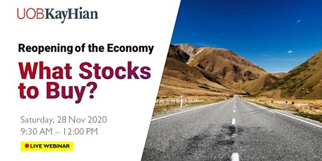 (LIVE WEBINAR) Reopening of the Economy, What Stocks to Buy? tickets