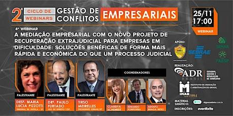 """2o. CICLO DE WEBINARS 2020 - """"GESTÃO DE CONFLITOS EMPRESARIAIS"""" ingressos"""