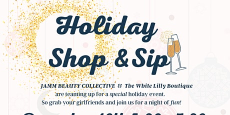 Holiday Shop & Sip tickets