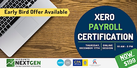 Become a Certified  Xero Payroll Officer  in ONE DAY! tickets