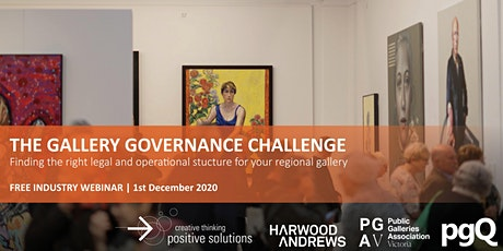 Webinar: The Gallery Governance Challenge tickets