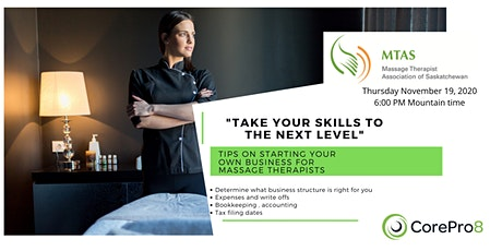 Take 2- Startup tips for Massage Therapists tickets