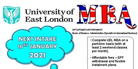 UEL MBA Preview -5 December 2020 (Sat) at 2.30PM tickets