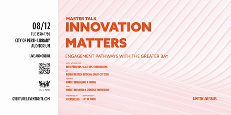 Innovation Matters: Engagement Pathways with the Greater Bay tickets