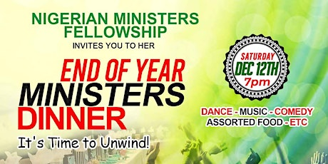 Nigerian Ministers Fellowship End of Year Ministers Dinner tickets