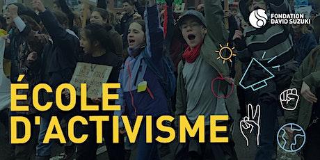 L'école de l'activisme tickets