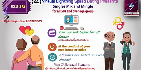 ZOOM Saturday Virtual Singles Mixer 4 all 50s & over: Age is just a number tickets