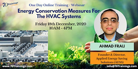 Energy Conservation Measures Training for HVAC Systems in Perth (Webinar) tickets