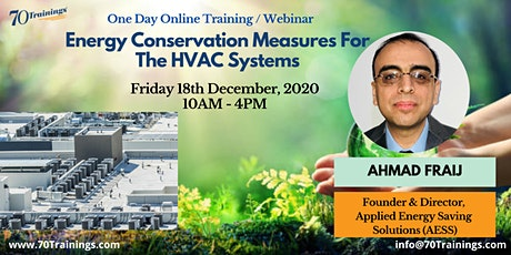 Energy Conservation Measures Training for HVAC Systems in Adelaide(Webinar) tickets