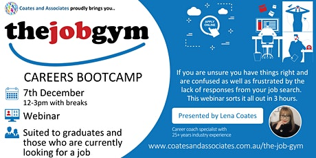 THE JOB GYM CAREERS BOOTCAMP - Ignite Your Job Search tickets