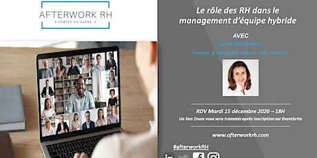 Le rôle des RH dans le management d'équipe hybride billets