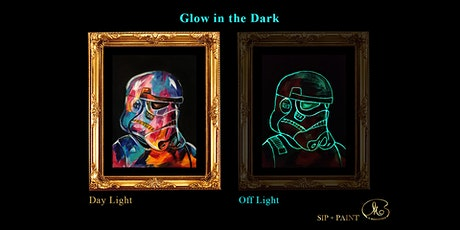 Sip and Paint (Glow in the Dark): Star Wars Characters (8pm Saturday) tickets