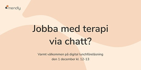 Digital lunchföreläsning för psykologer och psykoterapeuter tickets