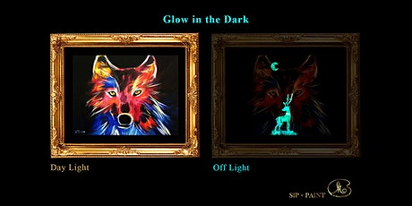 Sip and Paint (Glow in the Dark): The Wolf (2pm Saturday) tickets