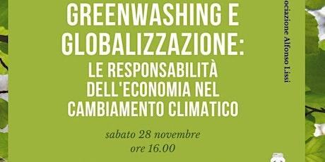 Greenwashing e globalizzazione biglietti