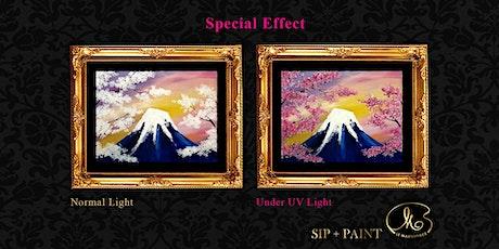 Sip and Paint (Glow in the Dark): Mount Fuji Sakura (8pm Saturday) tickets