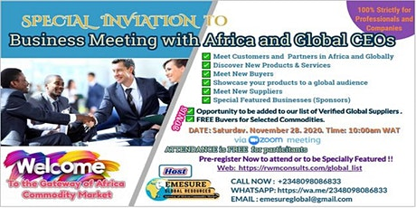 Business Meeting with Africa & Global CEOs tickets