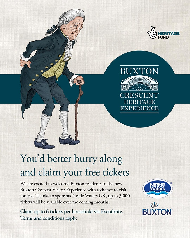 2nd release  - Buxton Crescent Experience - Free tickets for Buxton! image