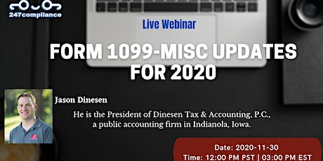 Form 1099-MISC Updates for 2020 tickets