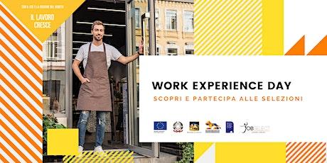 Work Experience Day: scopri e partecipa alle selezioni biglietti