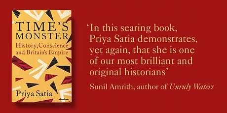 Time's Monster: Priya Satia  in Conversation tickets