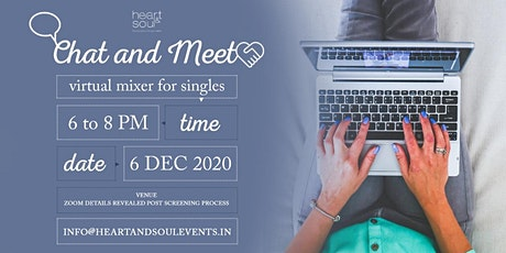 Chat and Meet Virtual Mixer For Singles tickets