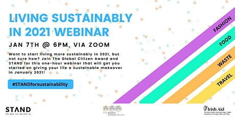 Living Sustainably in 2021 Webinar tickets