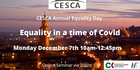 Equality in a time of COVID - CESCA Equality Day tickets