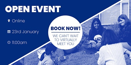 Virtual Open Event | Saturday, 23rd January 2021 tickets