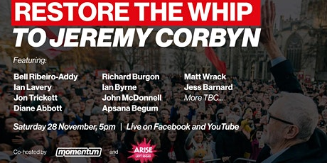 Restore the Whip to Jeremy Corbyn tickets