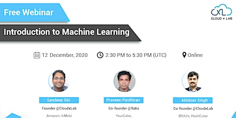 Free Webinar on Introduction to Machine Learning tickets