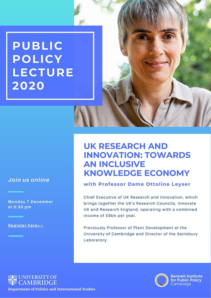 2020 Annual Public Policy Lecture with Professor Ottoline Leyser image