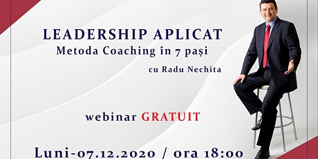 Leadership aplicat  - Metoda Coaching în 7 pași tickets