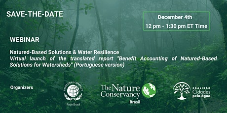 """Webinar  """"Natured-Based Solutions & Water Resilience"""" tickets"""