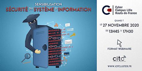 """Sensibilisation """"Sécurité du Système d'Information"""" billets"""