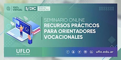 Jornada: Recursos prácticos para Orientadores Vocacionales entradas