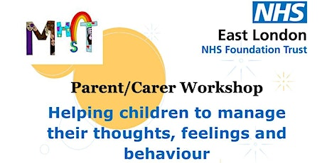 Helping children to manage their thoughts, feelings and behaviour. tickets