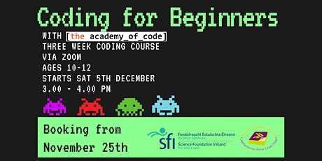 Coding for Beginners with The Academy of Code tickets