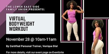 Virtual Bodyweight Workout tickets