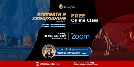 Strength & Conditioning FREE Class, 29 Nov 2020 - Saraga Indonesia tickets