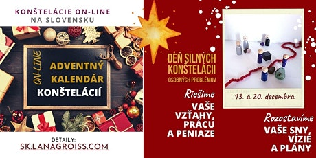 ADVENTNE RODINNE / OSOBNE KONSTELACIE ON-LINE tickets