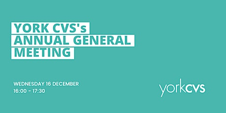York CVS - Annual General Meeting tickets