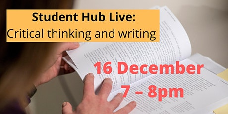 Critical thinking and writing (repeated) (19:00-20:00) tickets